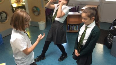 Drama activity on our class novel 'Holes' to help the children write a character description
