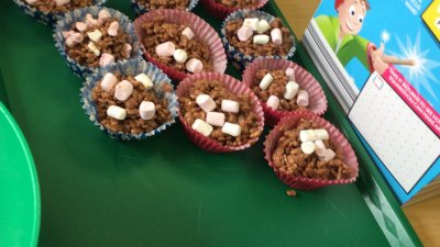 Making cakes for The Macmillan Coffee Morning