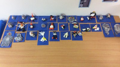 We really enjoyed making our penguins using the Playdough.