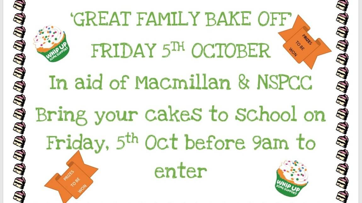 'Great Family Bake Off' – Friday 5th October