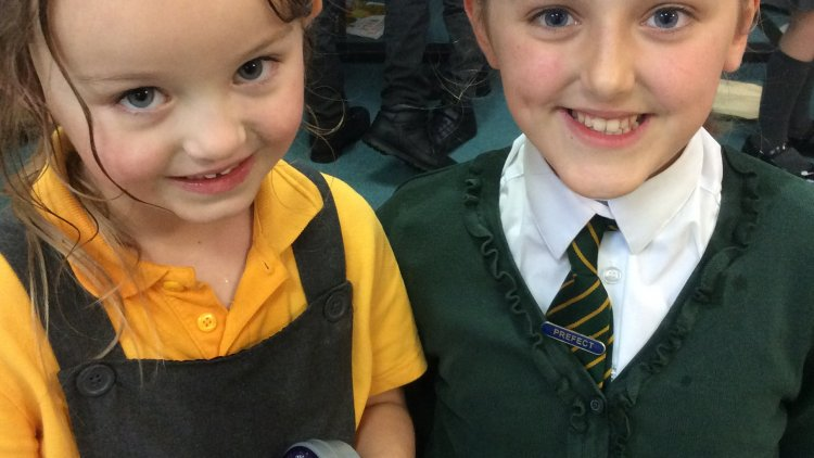 Green Class and their Year 6 Buddies